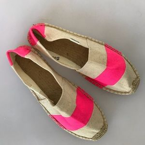 Soludos beige and pink shoes